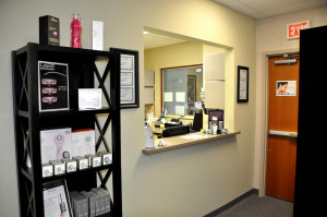 Picture of Private check-out area.